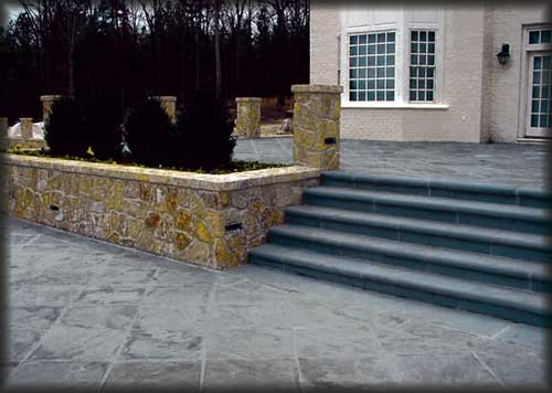 Entrance and Steps using Devonian Stone
