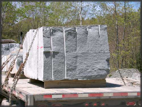 Blocks of Devonian Sandstone Enroute to the Plant